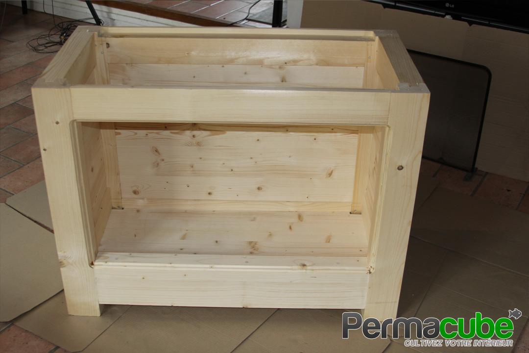 Ca y est le kit aquaponique permacube est lasur aquaponie for Lasurer un meuble