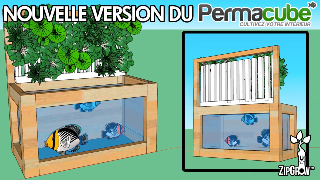 Permacube Kit aquaponie ZipGrow